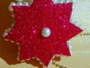 Мастерим с детьми елочную игрушку — звездочку из фоамирана. Ярмарка Мастеров - ручная работа, handmade.