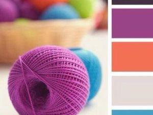 Как правильно сочетать цвета в вязании. Ярмарка Мастеров - ручная работа, handmade.