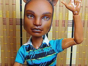 Видео мастер-класс: репейнт лица куклы Клод Вульф. Ярмарка Мастеров - ручная работа, handmade.