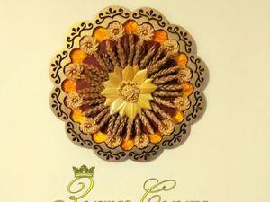 Панно  «Соломенное Солнце» (соломка). Ярмарка Мастеров - ручная работа, handmade.