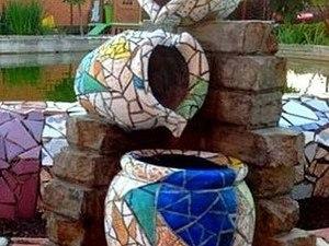 Роспись в стиле Гауди. Декор паркового фонтанчика. Ярмарка Мастеров - ручная работа, handmade.