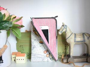 Шьем кошелек с треугольным фермуаром. Ярмарка Мастеров - ручная работа, handmade.