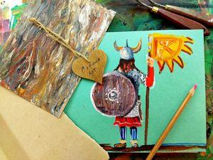Рисуем щит викинга с эффектом дерева. Ярмарка Мастеров - ручная работа, handmade.