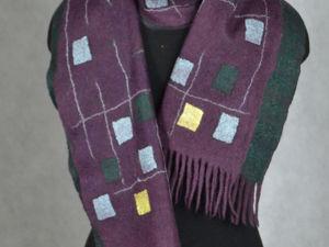 Мужской валяный шарф в подарок на 23 февраля. Ярмарка Мастеров - ручная работа, handmade.