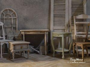 Миниатюрная мебель (масштаб 1:12). Ярмарка Мастеров - ручная работа, handmade.