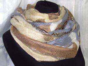 Валяный шарф снуд. Ярмарка Мастеров - ручная работа, handmade.