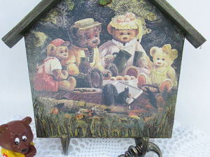 Ключница-вешалка «Медвежата». Ярмарка Мастеров - ручная работа, handmade.