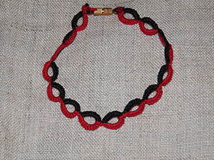 """Плетение браслета """"Цепочка"""" из комбинированных колец в технике фриволите. Ярмарка Мастеров - ручная работа, handmade."""