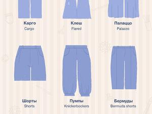 Фасоны брюк: гид от Ярмарки Мастеров. Ярмарка Мастеров - ручная работа, handmade.