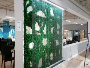 Декоративный водопад по струнам с панелью из стабилизированного мха. Ярмарка Мастеров - ручная работа, handmade.