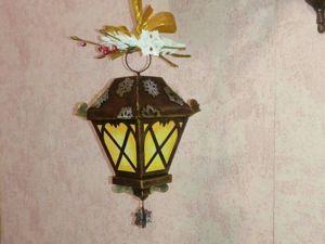 Как сделать фонарик из картона. Ярмарка Мастеров - ручная работа, handmade.