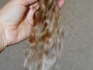 Кукольные волосы из козьей шерсти. Моем, расчесываем и красим кудри для трессов. Ярмарка Мастеров - ручная работа, handmade.