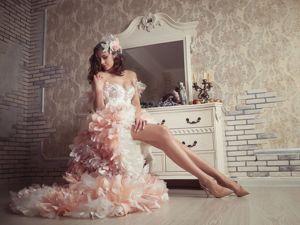 Романтическое свадебное платье Кокетка. Ярмарка Мастеров - ручная работа, handmade.