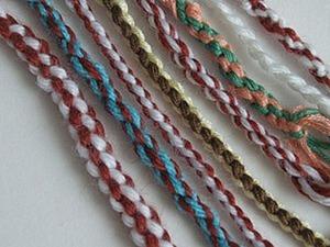 Плетение шнуров из ниток различными способами. Ярмарка Мастеров - ручная работа, handmade.