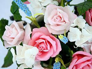 Создание бутона розы из холодного фарфора. Ярмарка Мастеров - ручная работа, handmade.