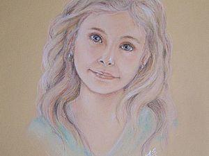 Рисуем детский портрет сухой пастелью. Ярмарка Мастеров - ручная работа, handmade.