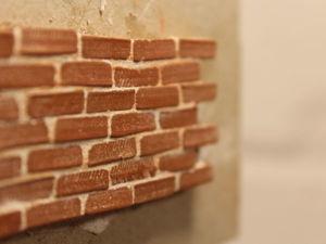 Миниатюрная кирпичная стена своими руками — легко и быстро!. Ярмарка Мастеров - ручная работа, handmade.