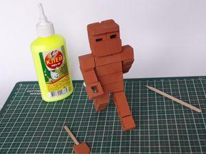Собираем модель Стив из Майнкрафт. Ярмарка Мастеров - ручная работа, handmade.