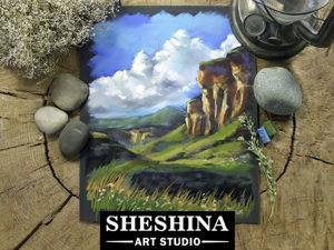 Рисуем горную долину сухой пастелью. Ярмарка Мастеров - ручная работа, handmade.