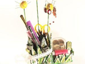 Мастерим вместе с детьми: подставка для мелочей из подручных материалов в подарок к 8 Марта. Ярмарка Мастеров - ручная работа, handmade.