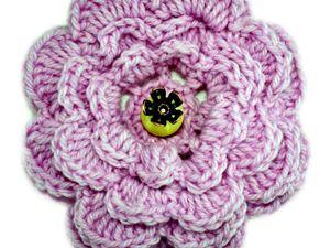 Как связать простой цветок крючком. Ярмарка Мастеров - ручная работа, handmade.