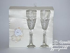 Делаем упаковку для свадебных фужеров. Ярмарка Мастеров - ручная работа, handmade.
