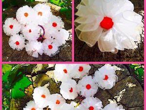 Видеоурок: мастерим цветок из органзы. Ярмарка Мастеров - ручная работа, handmade.