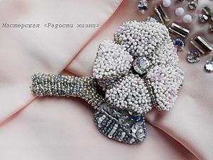 Вышиваем бисером: создаем брошь-цветок из отдельных элементов. Ярмарка Мастеров - ручная работа, handmade.