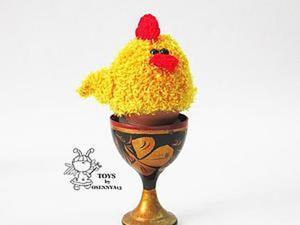 "Вяжем грелку-насадку ""Цыпленок"". Ярмарка Мастеров - ручная работа, handmade."