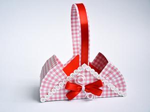 """Мастер-класс: """"Корзинка – подарочная упаковка: 2 варианта"""". Ярмарка Мастеров - ручная работа, handmade."""