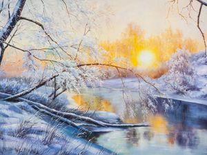 Скидки на зимние пейзажи. Ярмарка Мастеров - ручная работа, handmade.