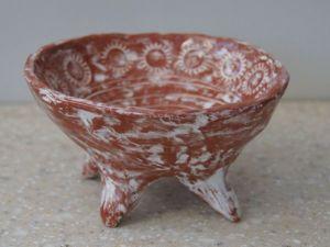 Посуда своими руками: лепим из глины плошку на ножках. Ярмарка Мастеров - ручная работа, handmade.
