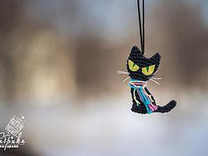 «Жил да был черный кот за углом», или Делаем забавную подвеску. Ярмарка Мастеров - ручная работа, handmade.