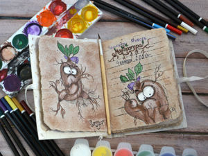 Челлендж  «Мандрагора»  1 задание. Рисунок. Ярмарка Мастеров - ручная работа, handmade.