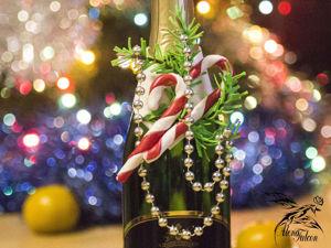 Делаем «вкусное» новогоднее украшение для бутылки. Ярмарка Мастеров - ручная работа, handmade.