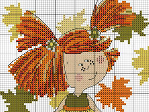 In Love With Autumn: 50+ Cross Stitch Patterns. Livemaster - handmade