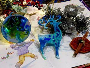 Идеи новогоднего декора. Ярмарка Мастеров - ручная работа, handmade.