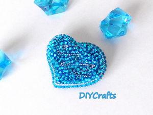 Создаем брошь «Сердце» из бисера. Ярмарка Мастеров - ручная работа, handmade.