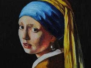 Новая работа! Девушка с жемчужной серёжкой. Ярмарка Мастеров - ручная работа, handmade.
