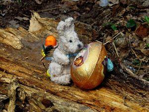 Пасхальный зайчик в технике папье-маше своими руками. Ярмарка Мастеров - ручная работа, handmade.