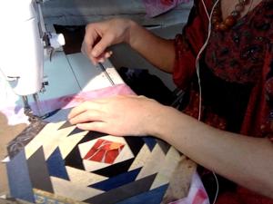 Шьем лоскутное одеяло из старых джинсов. Серия 8. Ярмарка Мастеров - ручная работа, handmade.