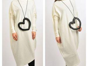 Мастерим необычное ожерелье из эко-кожи «Сердце». Ярмарка Мастеров - ручная работа, handmade.