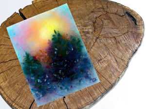 Video Tutorial: Creating Picture Of Wool ''Winter Landscape''. Livemaster - handmade