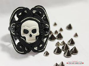 Делаем сутажный браслет в стиле Rock. Ярмарка Мастеров - ручная работа, handmade.