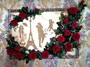Мастер-класс: создаем объемную картину «Парижский поцелуй». Ярмарка Мастеров - ручная работа, handmade.