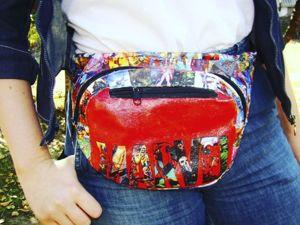 Декупаж поясной сумки: видеоурок. Ярмарка Мастеров - ручная работа, handmade.