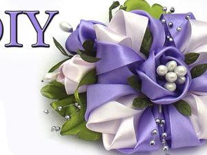 Создаём цветы ручной работы из лент. Ярмарка Мастеров - ручная работа, handmade.