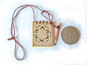 Мини-блокнот для куклы. Ярмарка Мастеров - ручная работа, handmade.