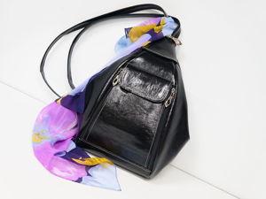 Сумка-рюкзак из натуральной кожи. Ярмарка Мастеров - ручная работа, handmade.