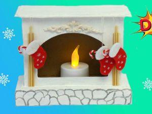 Как сделать новогодний камин из картона своими руками DIY. Ярмарка Мастеров - ручная работа, handmade.